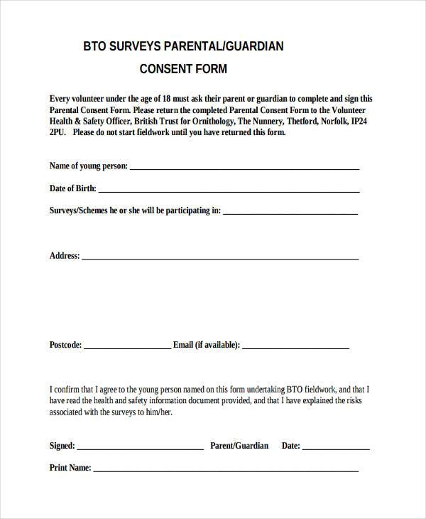 7+ Survey Consent Form Samples - Free Sample, Example Format Download