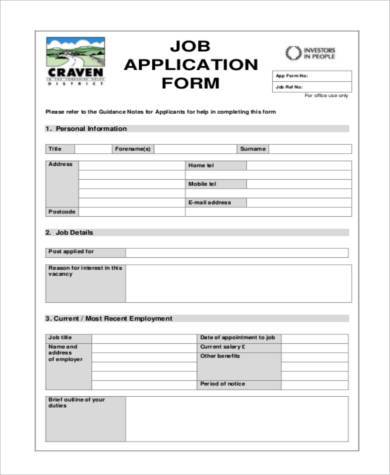 Sample Application Forms In Pdf  Free Documents In Word Pdf