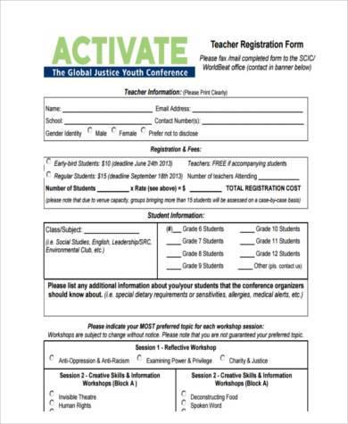 teacher registration form in pdf