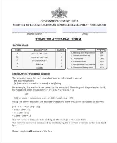 teacher staff appraisal form1