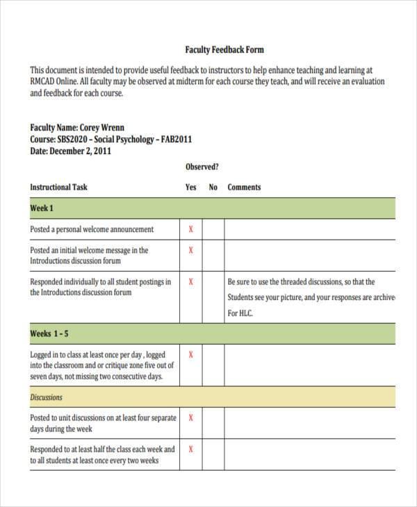 teaching faculty feedback form1