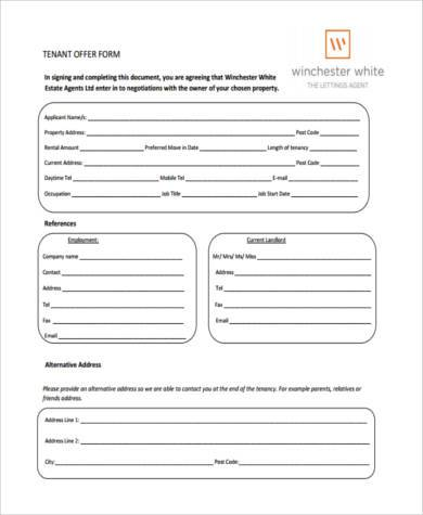 tenancy deposit protection forms