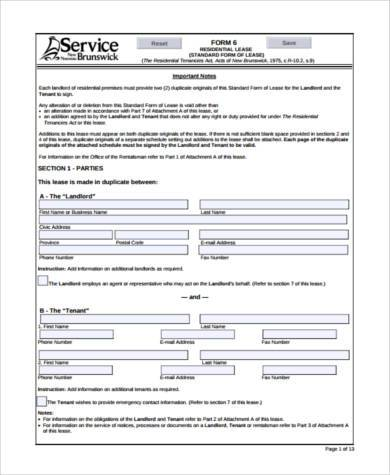 Blank Tenancy Agreement Template Printable Lease Agreement Form