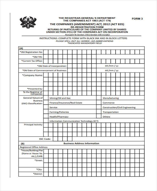 free 6  tin registration forms in pdf