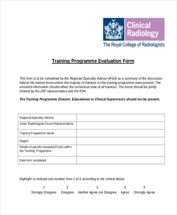 Evaluation Form Templates – Program Evaluation Form