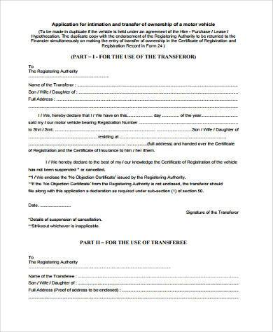 transfer of ownership form in pdf