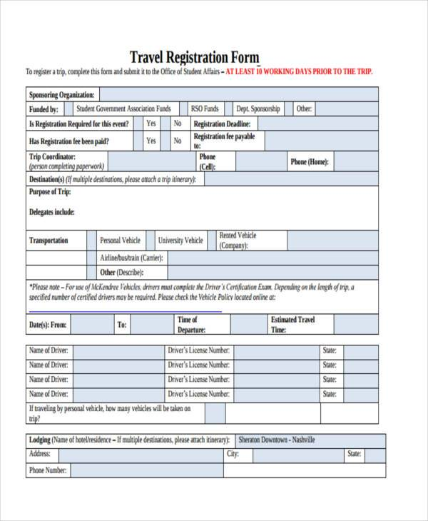 travel registration form example1