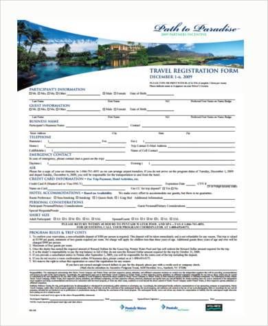 travel registration form in pdf