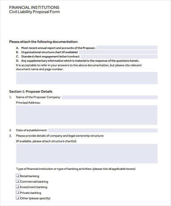 trining finance program proposal form