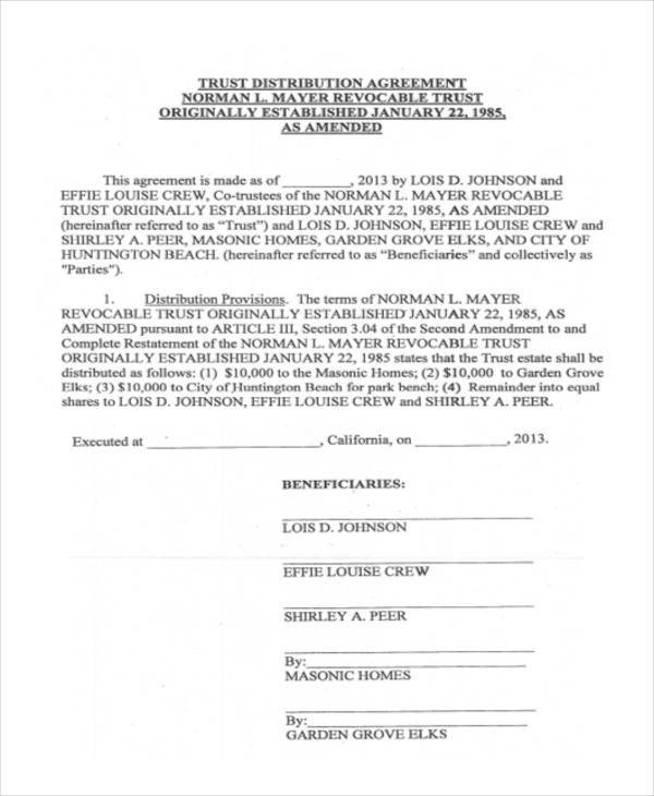 10+ Distribution Agreement Form Samples - Free Sample, Example