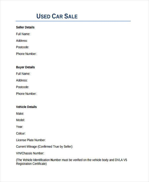 8+ Sale Contract Form Samples - Free Sample, Example Format Download