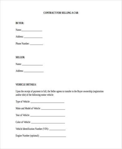 Sample vehicle deposit forms 9 free documents in word pdf for Car deposit contract template