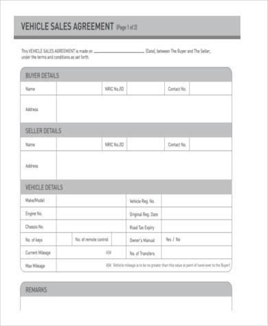 vehicle sale deposit form1