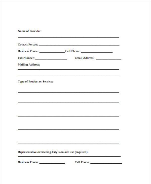 vendor demonstration agreement form