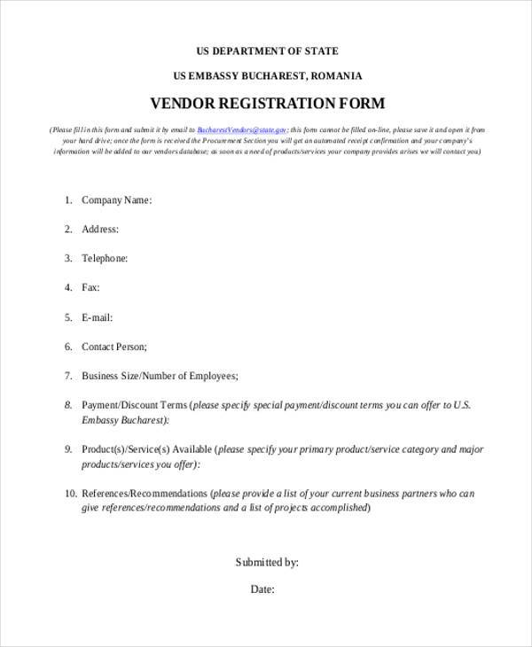 vendor registration form example1