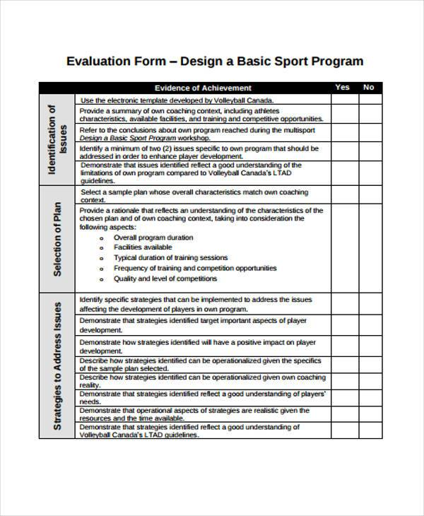 volleyball evaluation form in pdf