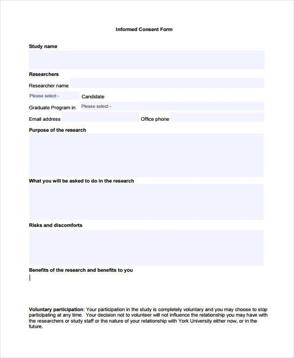 voluntary informed consent form