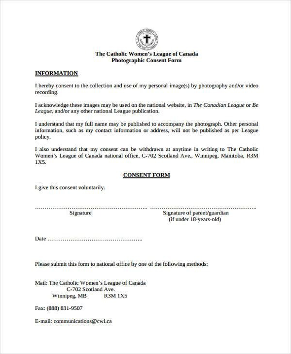 voluntary photo consent form