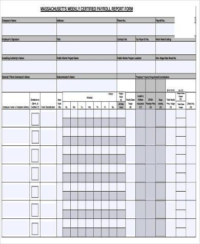 weekly certified payroll report form - Certified Payroll Form