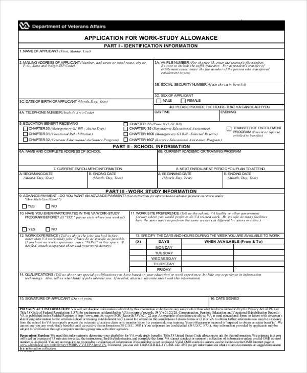 work application form in pdf
