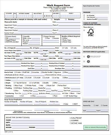 work request form in pdf