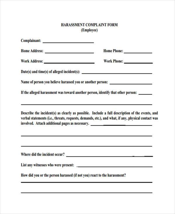 workplace harassment complaint form1