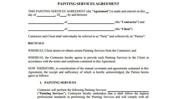 Service Contract Agreement Form Samples Free Sample Example - Free sample contract agreement