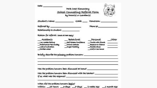 Sample School Counseling Forms - 9+ Free Documents in PDF