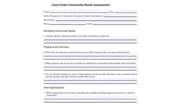 Free 9 Sample Community Assessment Forms In Pdf Ms Word Excel Give examples of your strengths and weaknesses. sample community assessment forms