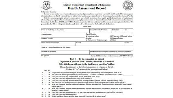 Free 9 Sample Health Record Forms In Pdf Ms Word Excel
