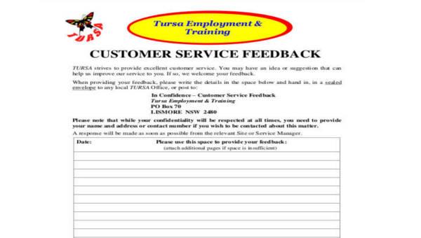 11+ Sample Customer Feedback Forms - Word, PDF