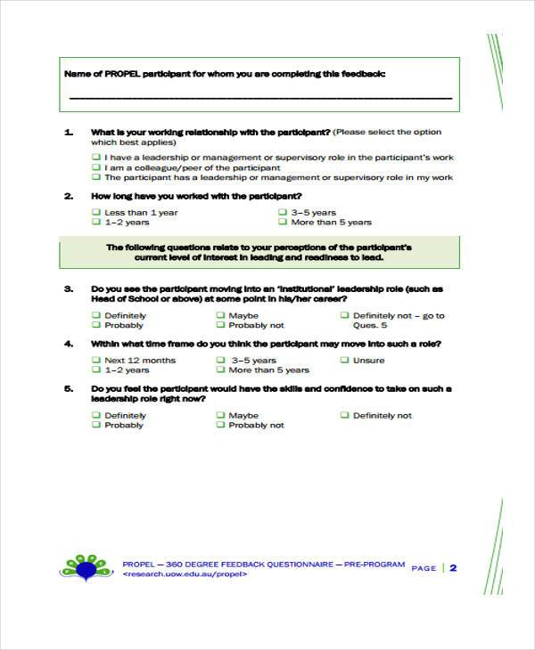 Feedback Form Templates