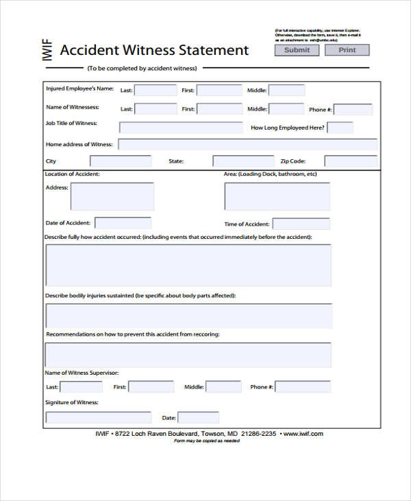accident witness statement form1