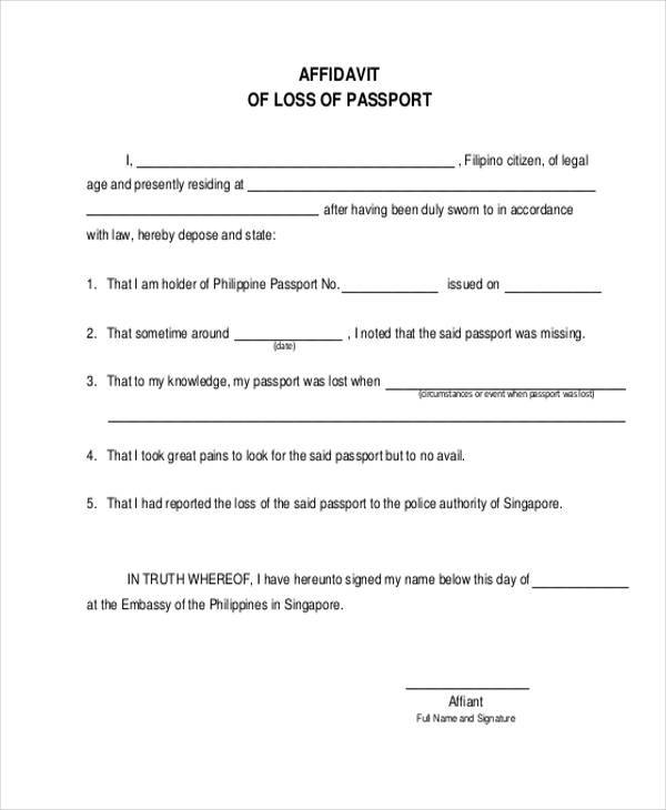 Affidavit Form Template – How to Write a Legal Affidavit