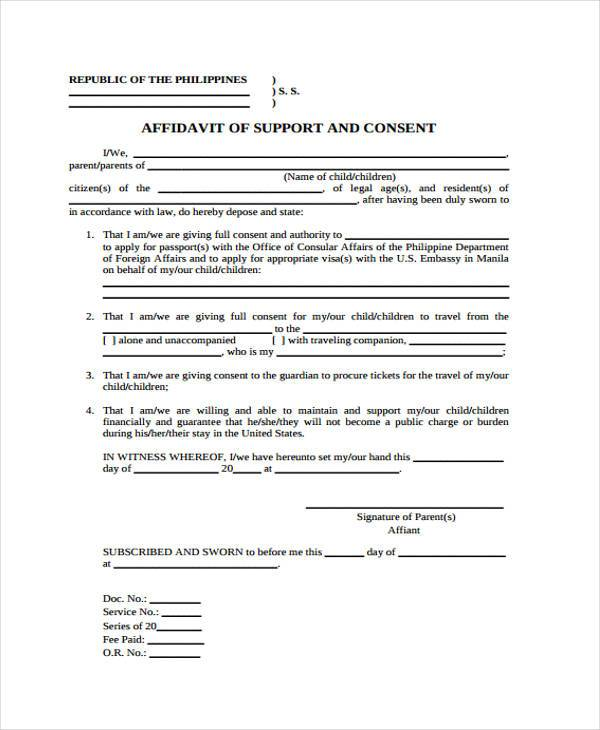 Affidavit Forms In Pdf