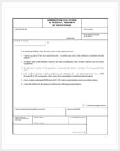 affidavit for collecting personal property