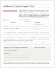 affidavit of financial support form