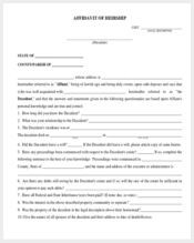 affidavit of heirship form1