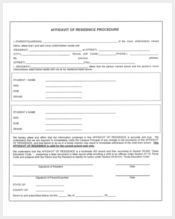 affidavit of residence procedure forms2