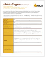 affidavit of support form for student visa