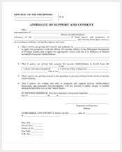 affidavit of support and consent form1