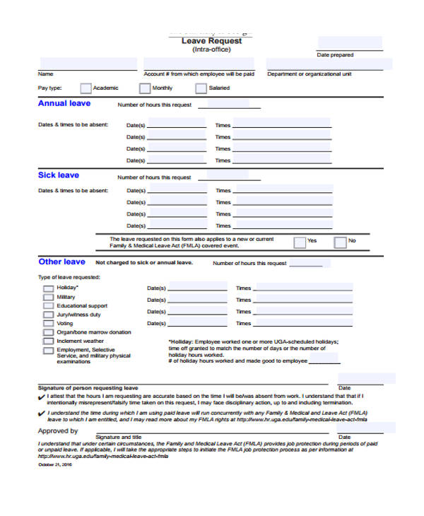 Request Forms In Pdf