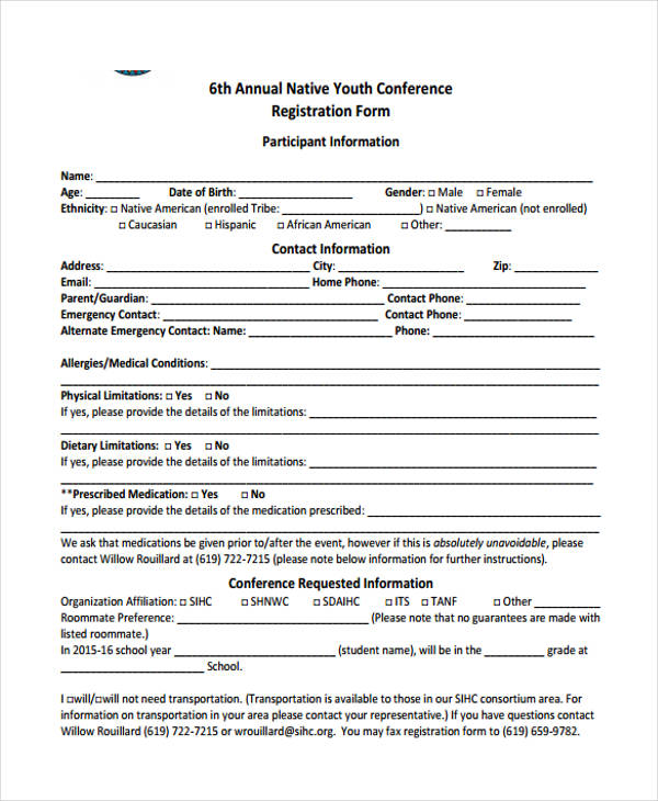 annual native youth conference registration form1