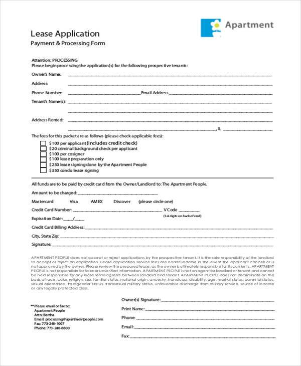 Basic Application Forms – Apartment Application Form