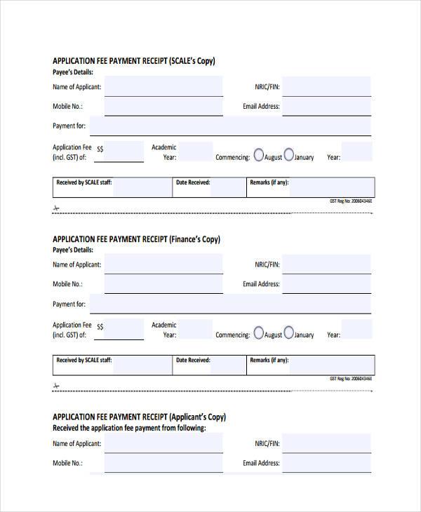 application fee payment receipt1