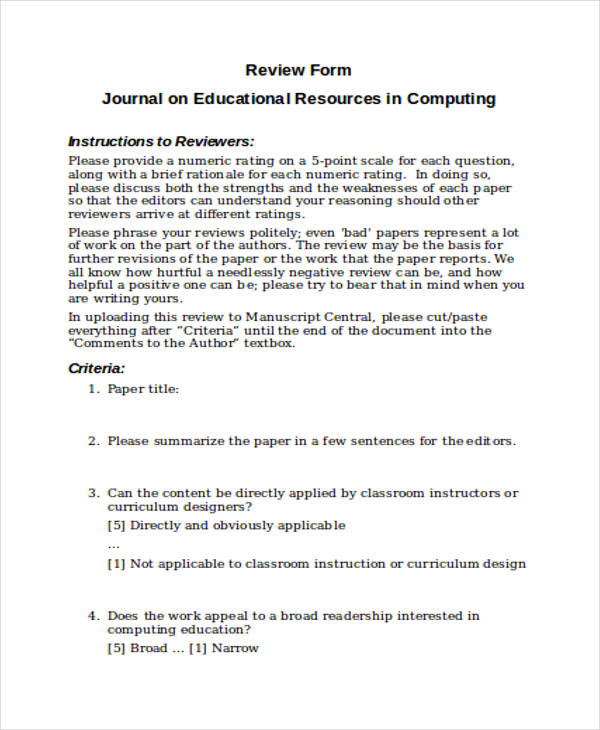 appraisal self review form1