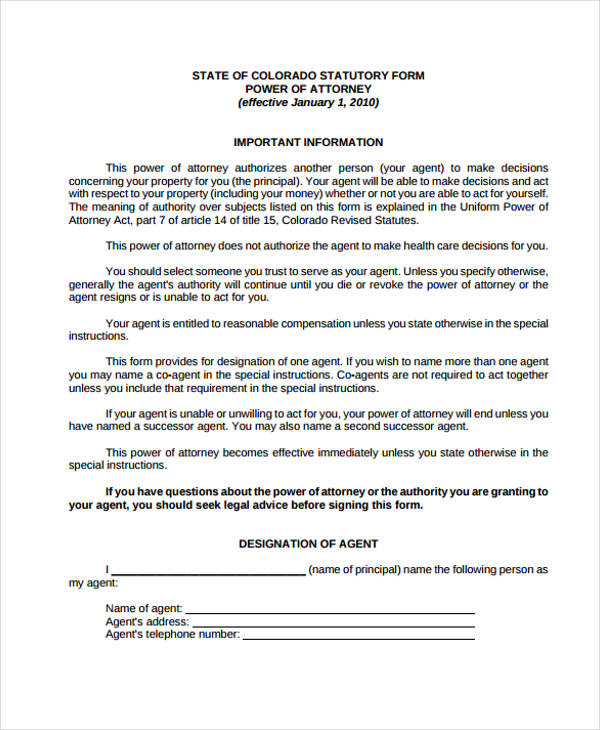 army special power of attorney form1 - Sample Special Power Of Attorney Form
