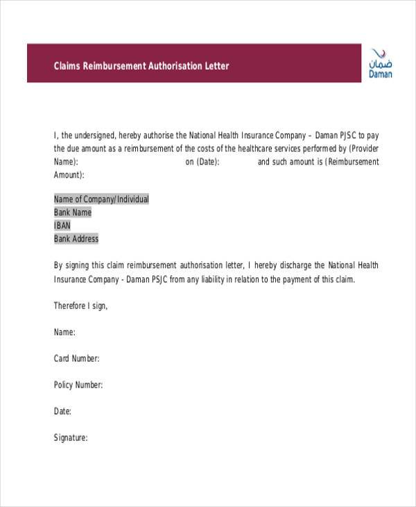 authorization letter claim