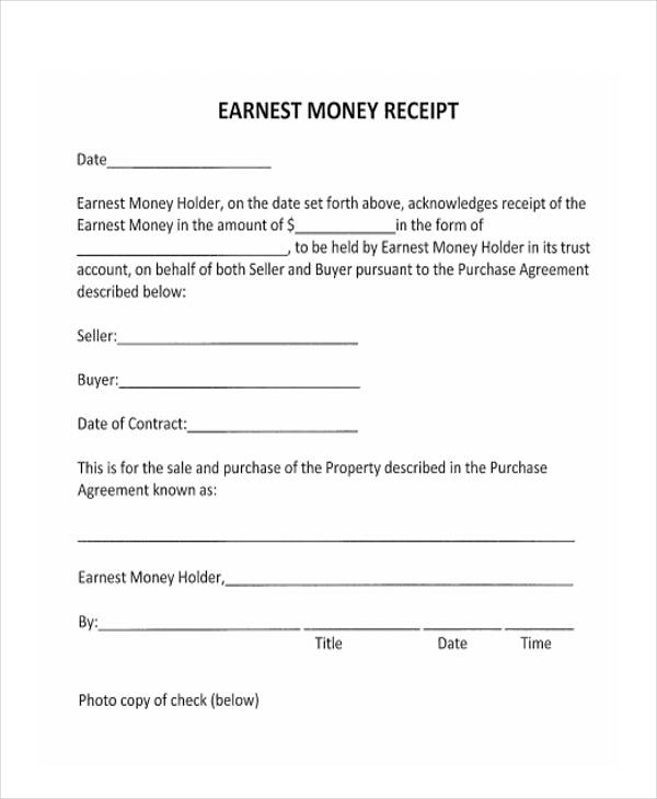 Printable Receipt Forms   Free Documents In Word Pdf