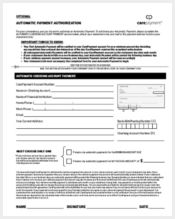 automatic payment authorization form1
